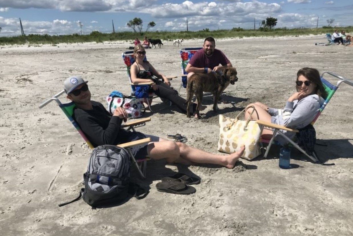 Dog Beach at Jersey Shore the Perfect Spot for Phoenixville Group to Hang Out with Canine Friend