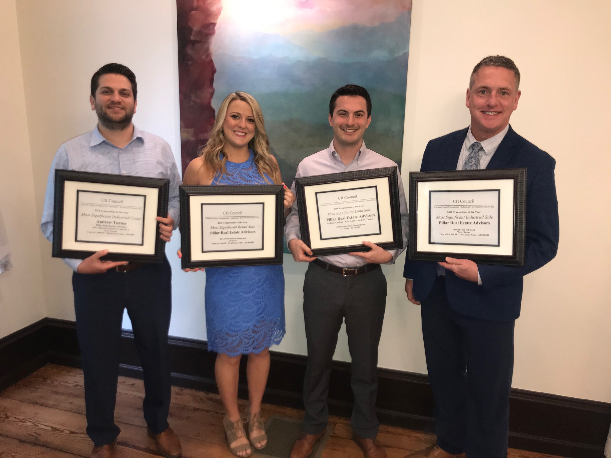 West Chester's Pillar Real Estate Advisors Wins Four of CII Council's Nine Most Significant Deal Awards