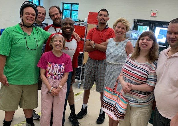 U.S. Rep. Houlahan Tours Handi-Crafters in Thorndale, Calls Its Work in the Community 'Essential'