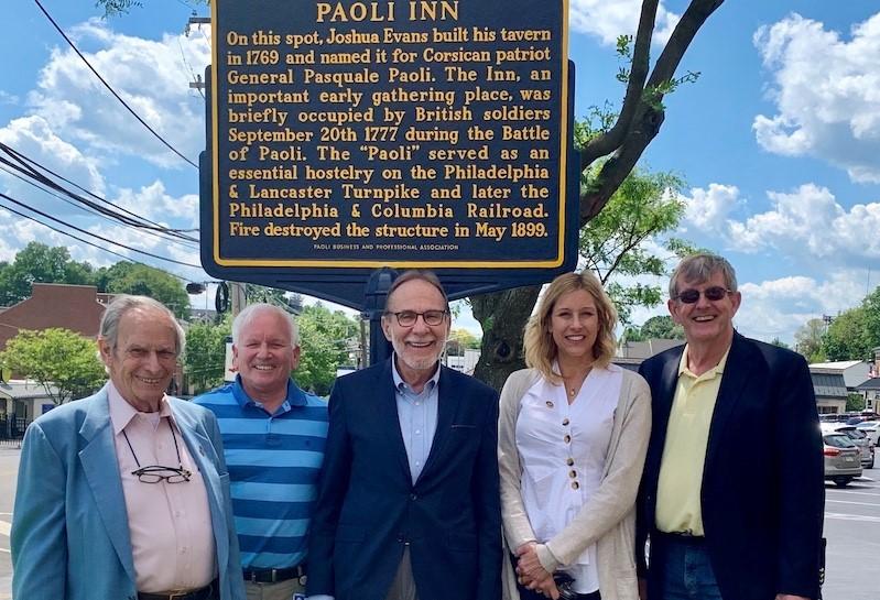 Paoli Business and Professional Association Commemorates Original Location of Paoli Inn