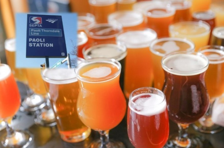 Known as the Beer Train, SEPTA's Paoli-Thorndale Line an Ideal Way to Visit Some Great Craft Breweries