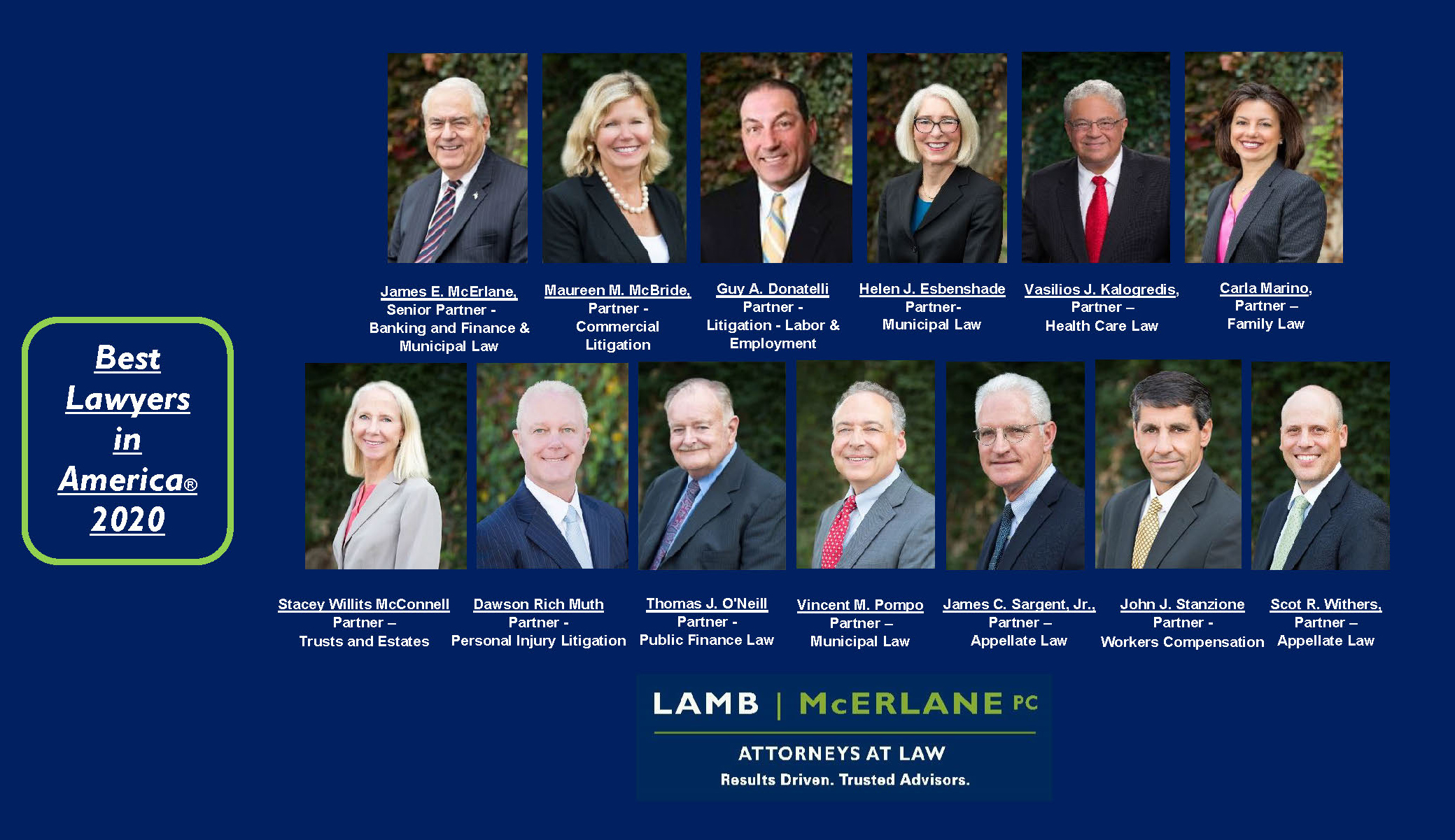 Thirteen Lamb McErlane Attorneys Recognized as Best Lawyers in America