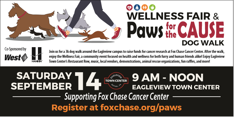 Hankin Group to Host Paws for the Cause & Wellness Fair on Saturday at Eagleview Town Center