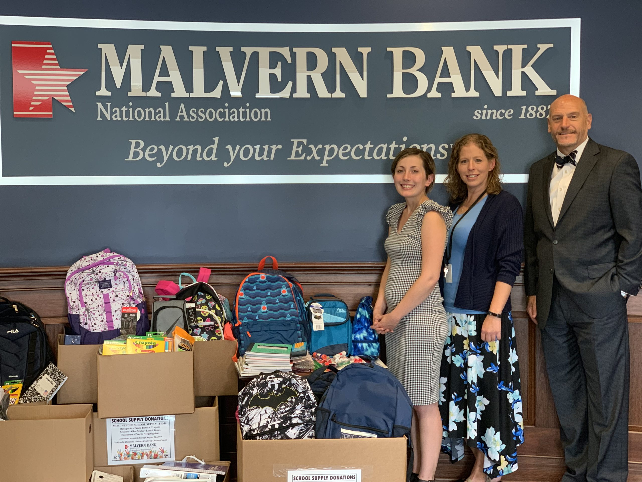 Malvern Bank Makes a Difference, Donates School Supplies to Local Children in Need