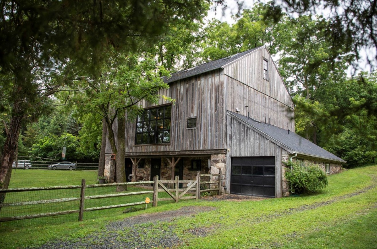Couple Transforms Barn on 200-Year-Old Farm in East Pikeland into a Work of Art