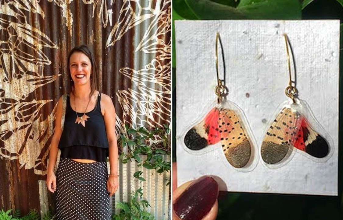 Local Woman Sees Beauty in Dead Spotted Lanternflies, Turns Their Remains into Jewelry