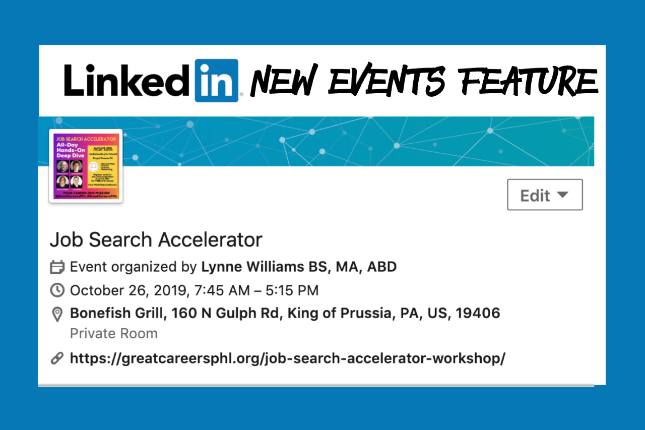 LinkedIn New Events Feature