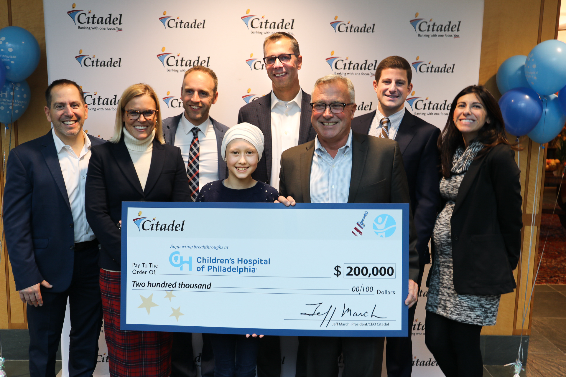 Citadel's $200,000 Donation to CHOP a Testament to Its Founding Philosophy of People Helping People