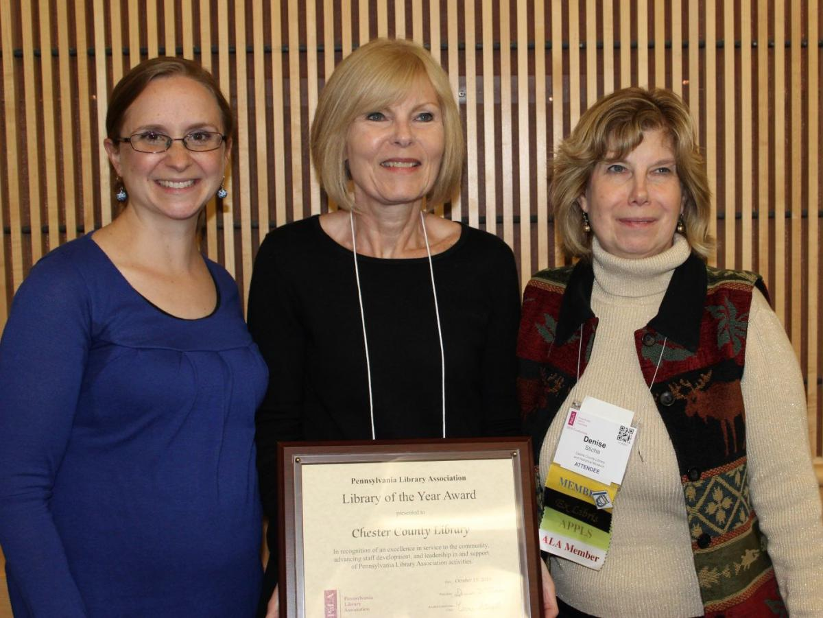Chester County Library Named Pennsylvania's Library of the Year