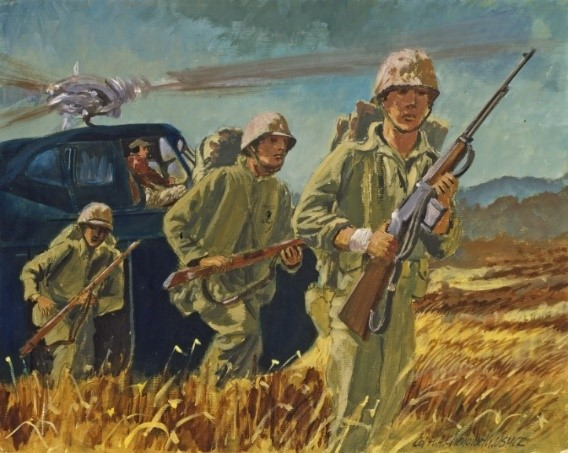 New Exhibit at WCU Features Never-Before-Seen Work from Marine Corps Combat Artists