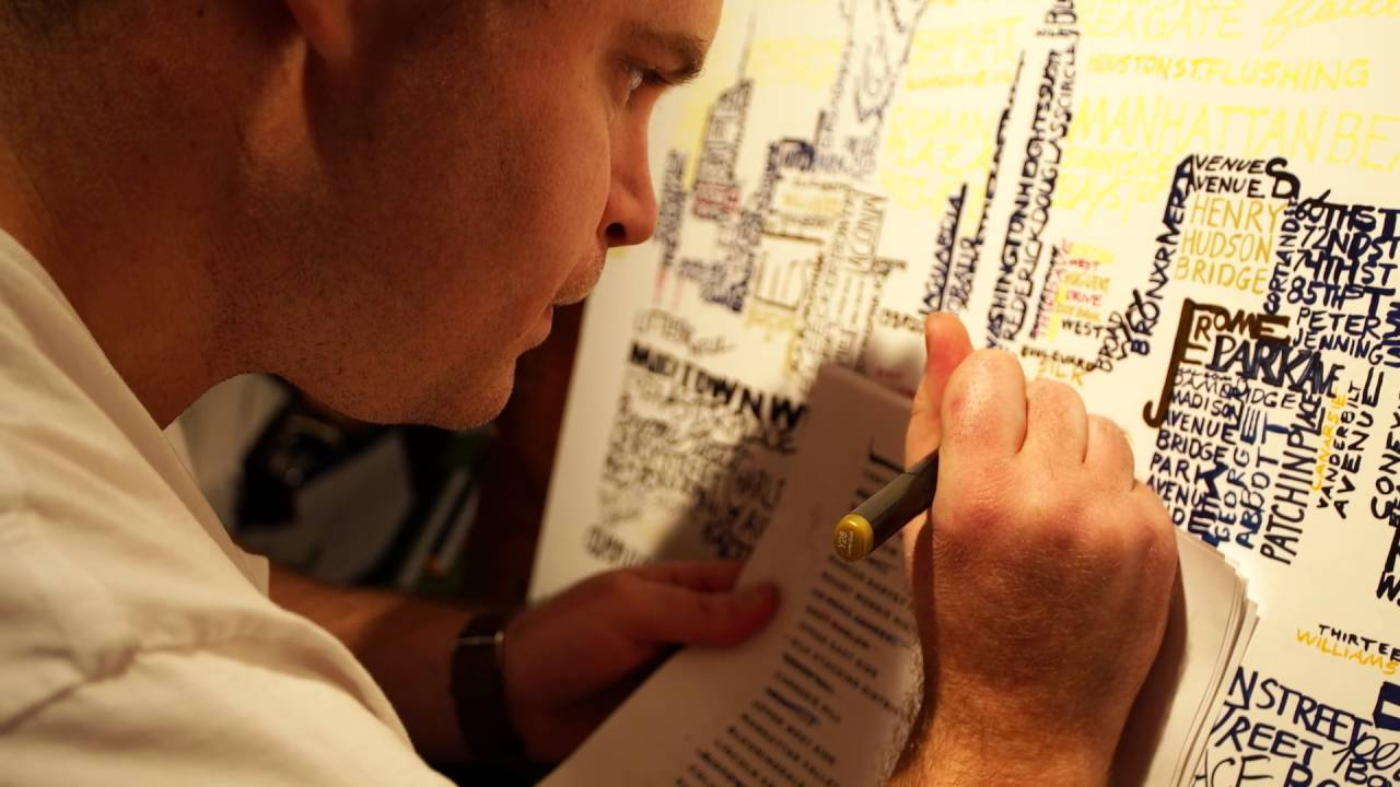 Montgomery County Man Creates Unique Sports-Themed 'Word Art'