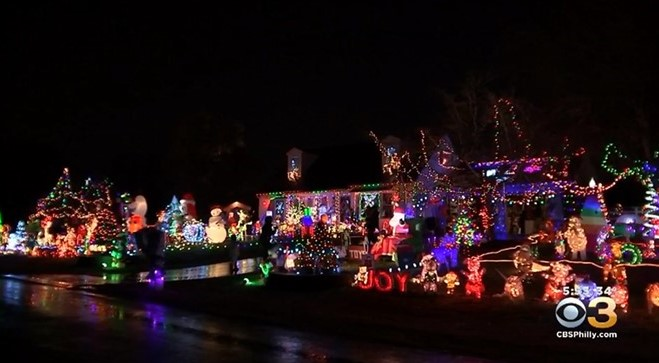 West Chester Family's Annual Display of Christmas Lights All for a Good Cause
