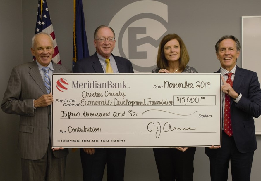 Meridian Bank Donates $15,000 to Chester County Economic Development Council