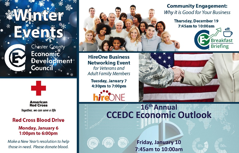 CCEDC Announces Winter Event Schedule
