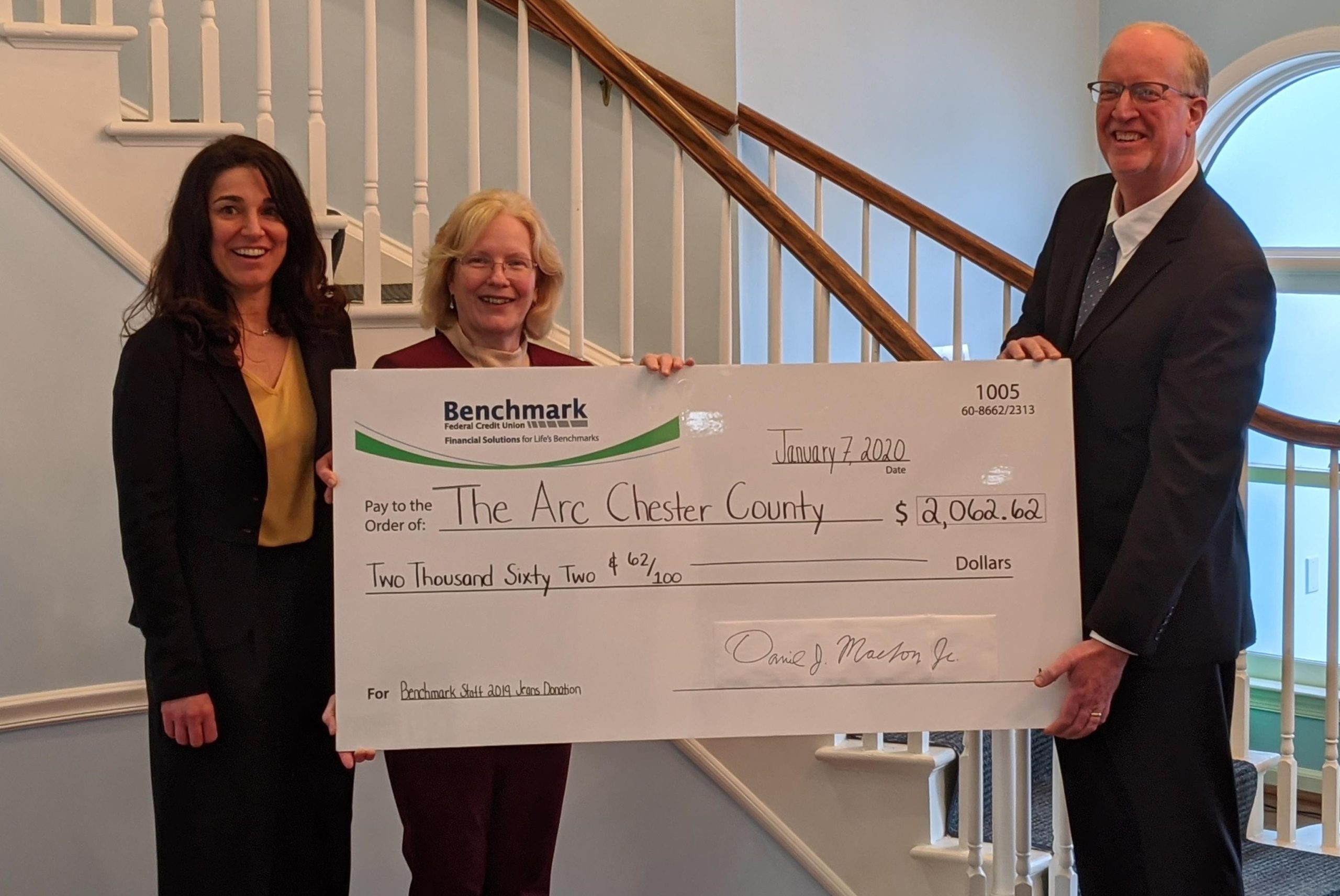 Arc of Chester County Receives Donation to Benefit Individuals with Developmental, Intellectual Disabilities