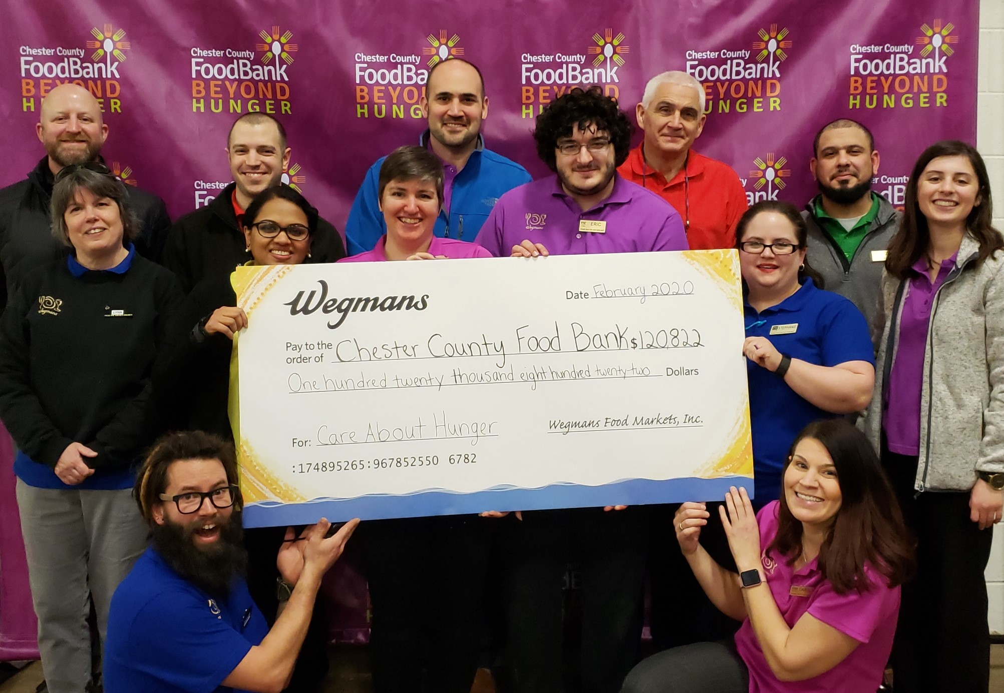 Wegmans Donates $120,822 and Almost Nine Tons of Food to Chester County Food Bank