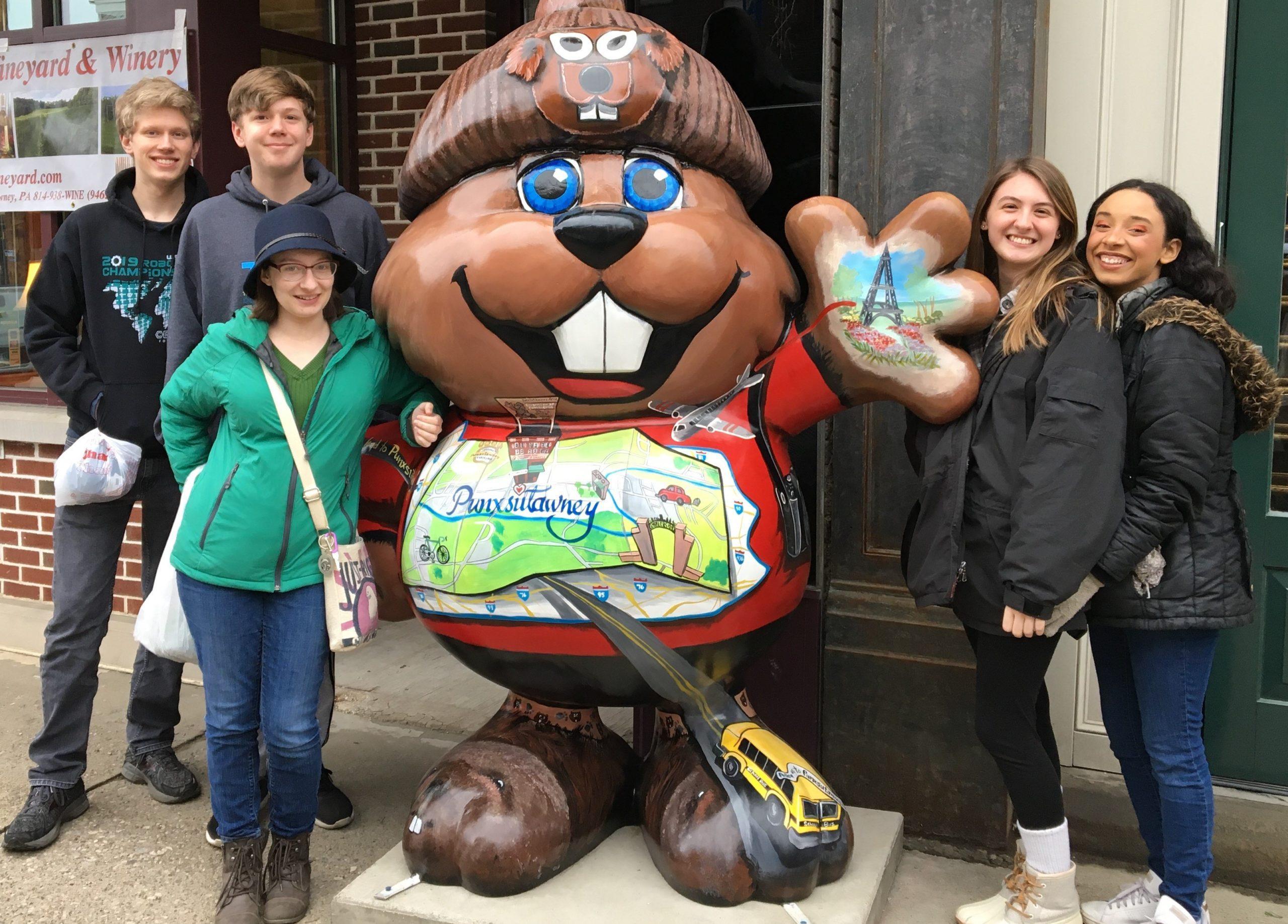 Downingtown Teens Spend Groundhog Day with Punxsutawney Phil