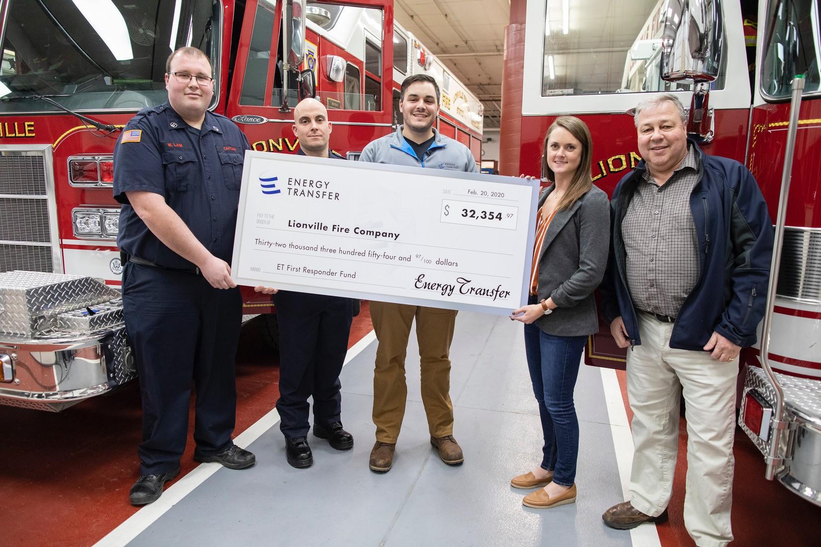 Energy Transfer Awards Lionville Fire Company $32,000 Grant for Emergency Response Equipment