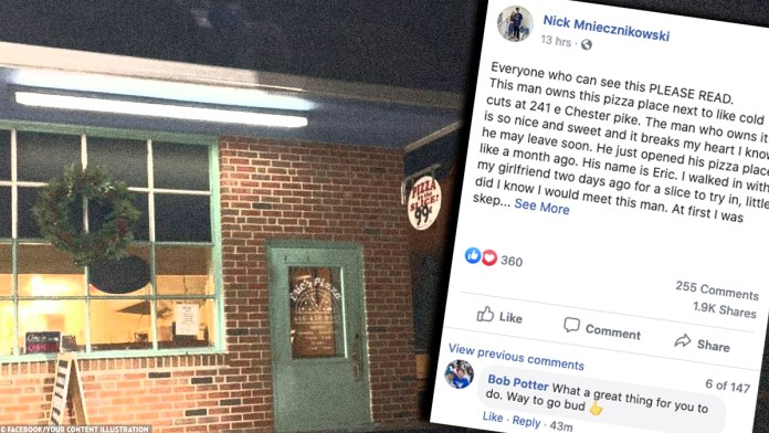 Thanks to Social Media, Locals Flood Pizza Shop to Help Out Owner