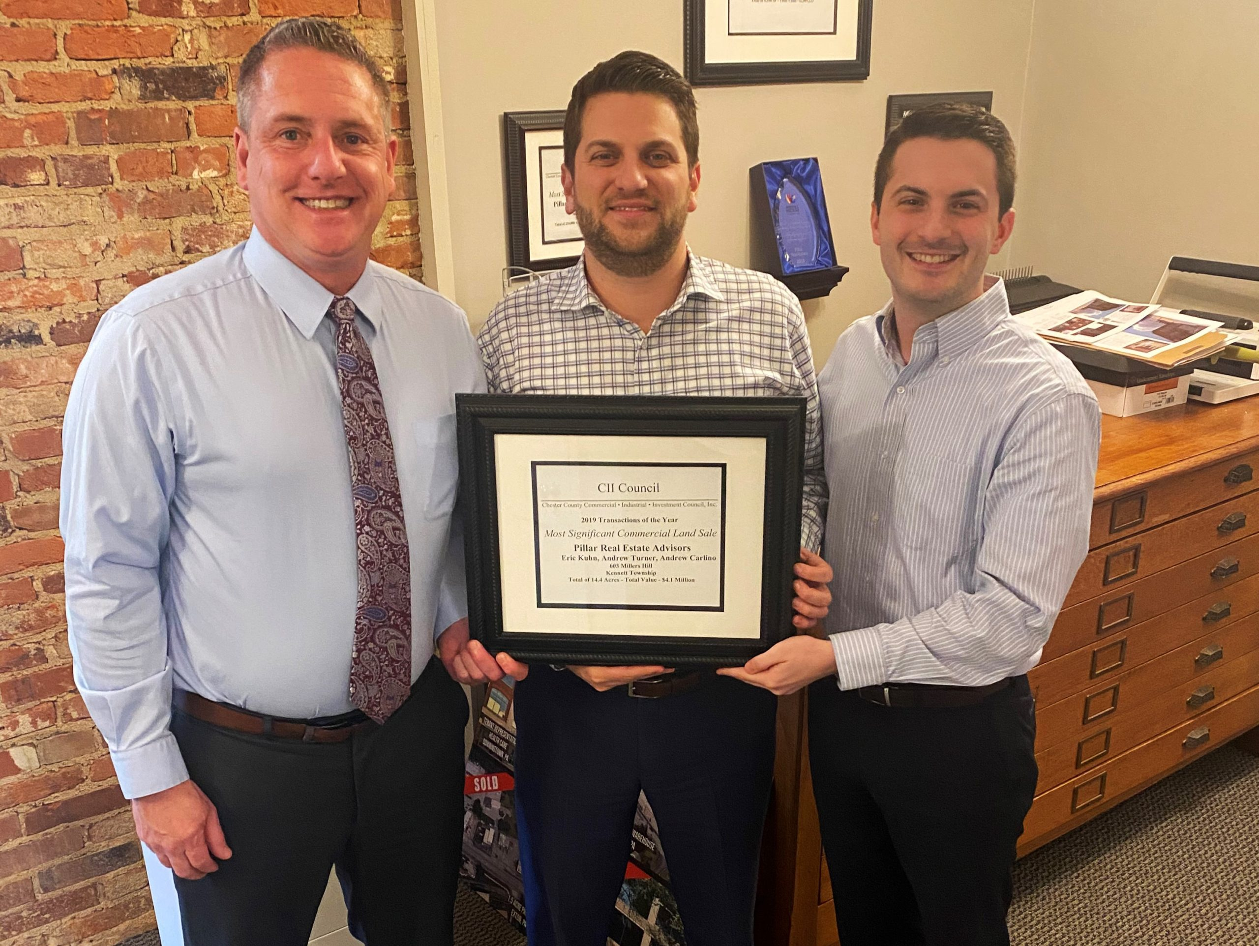 West Chester's Pillar Real Estate Advisors Honored for Most Significant Commercial Land Sale in 2019