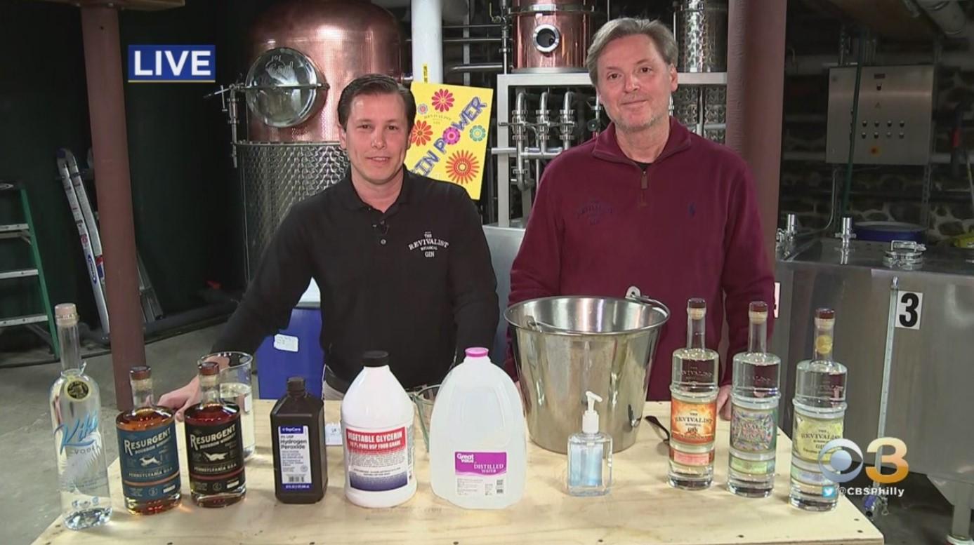 Distillery in Elverson Creating Hand Sanitizer for First Responders, Hospitals