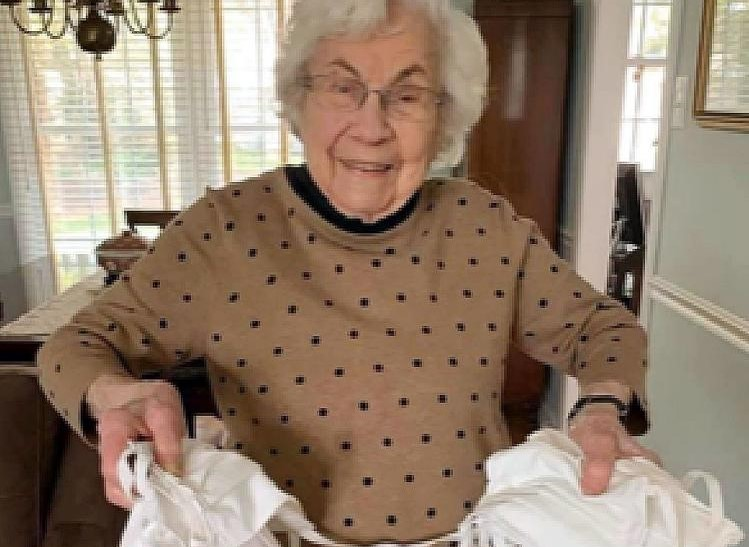 101-Year-Old Paoli Woman Keeps Busy During Pandemic by Sewing Masks for Emergency Responders