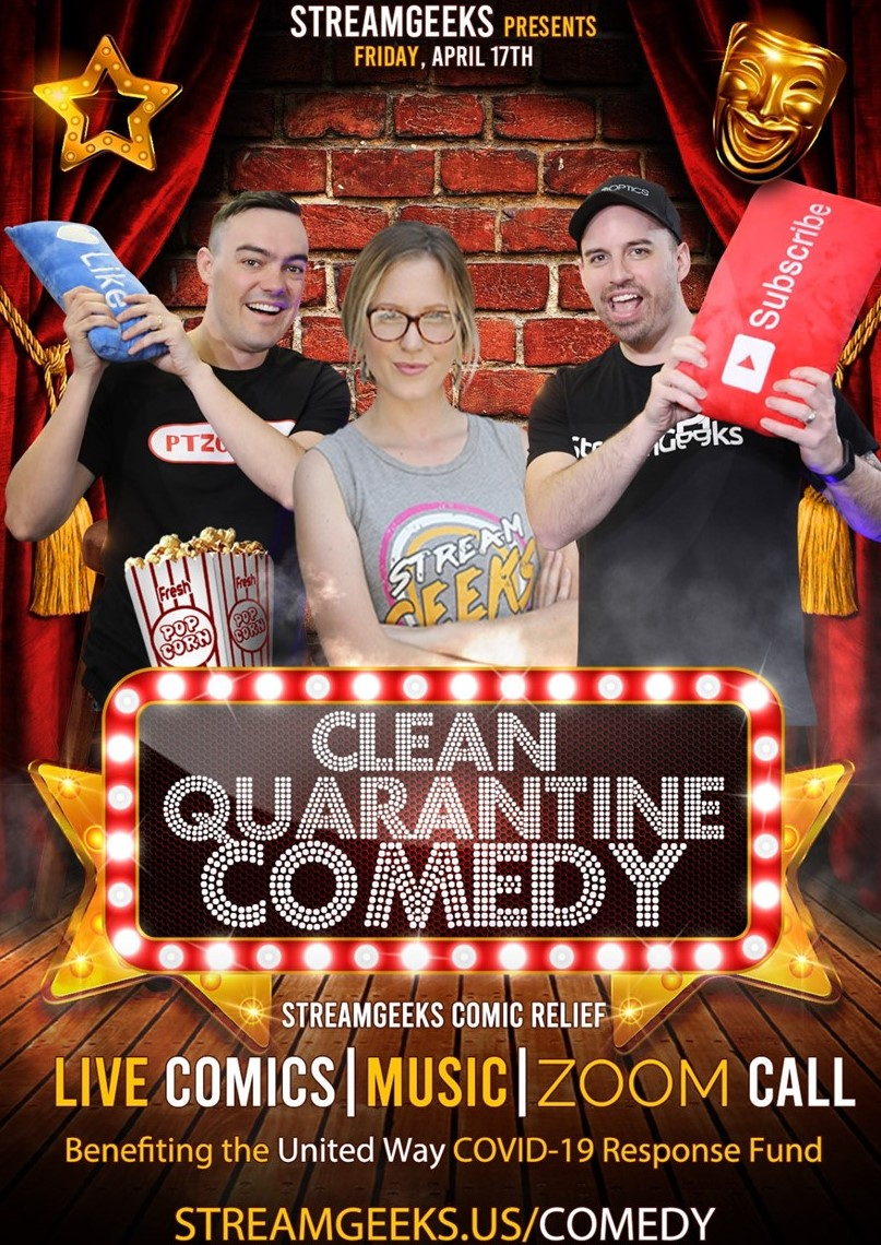 StreamGeeks to Host Live Comedy Show to Benefit United Way of Chester County's COVID-19 Fund