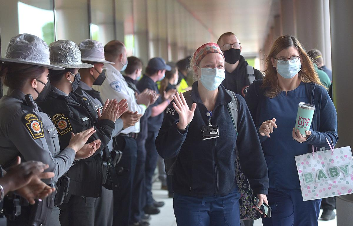 First Responders Salute Front-Line Workers at Chester County Hospital