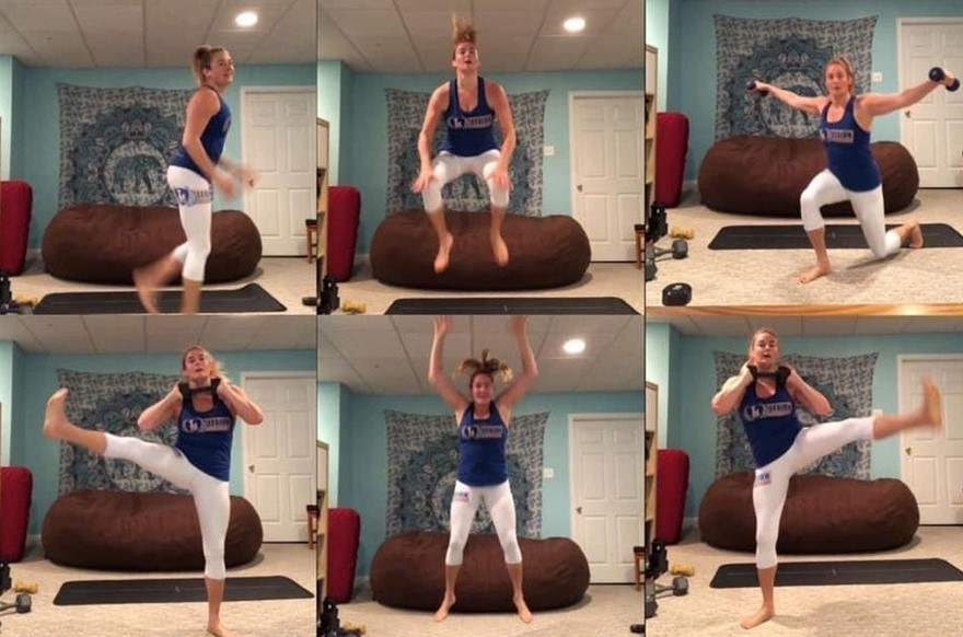 West Chester Woman Not Letting Quarantine Mess with Her Fitness Routine