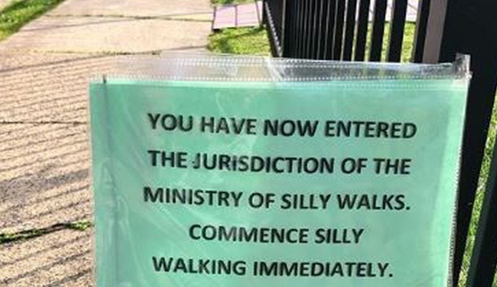 Monty Python Fan in Phoenixville Gives Jurisdiction Over Her Sidewalk to 'Ministry of Silly Walks'