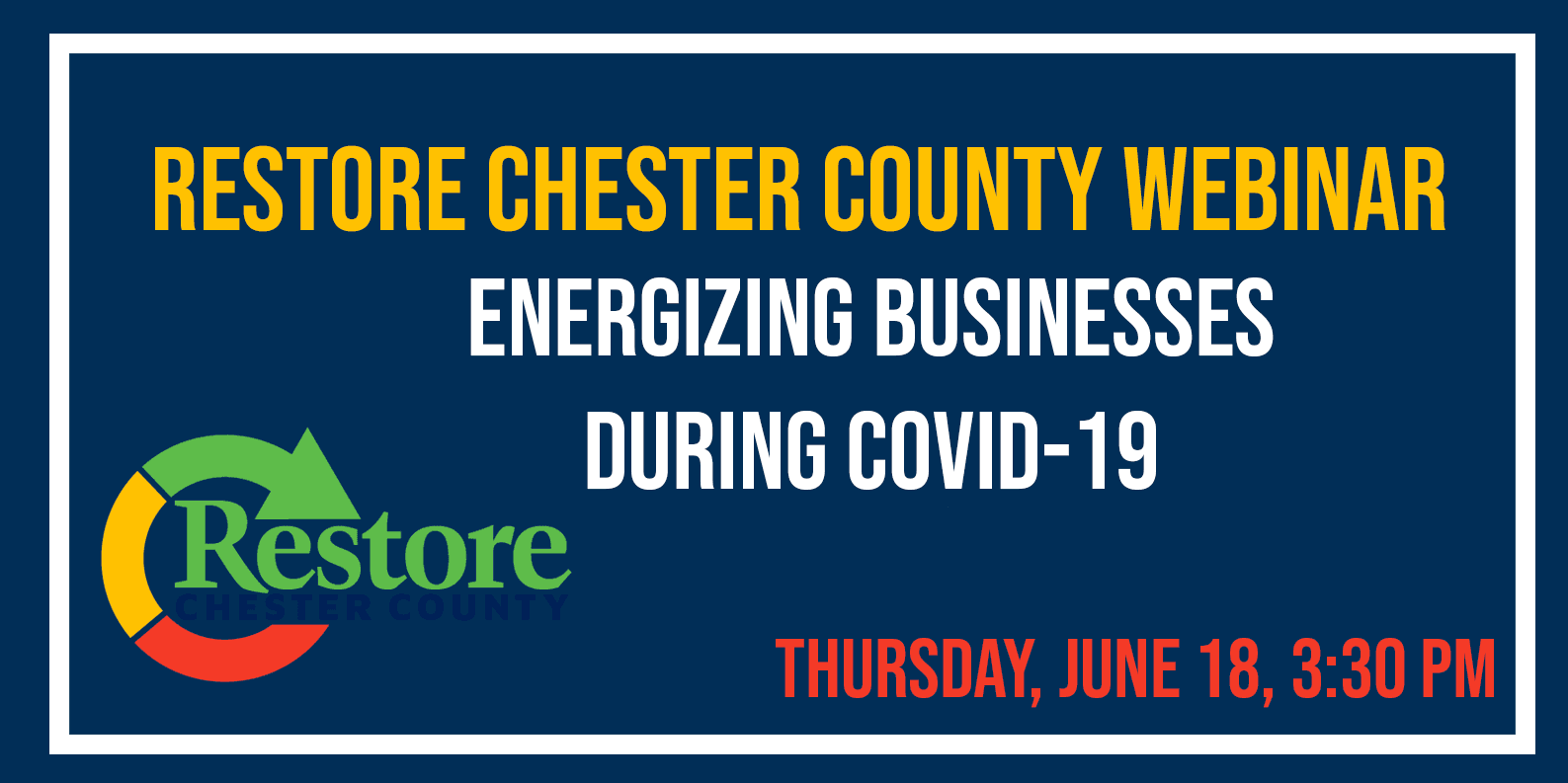 County's Webinar Series Continues on Thursday with 'Energizing Businesses During COVID-19' by SCORE