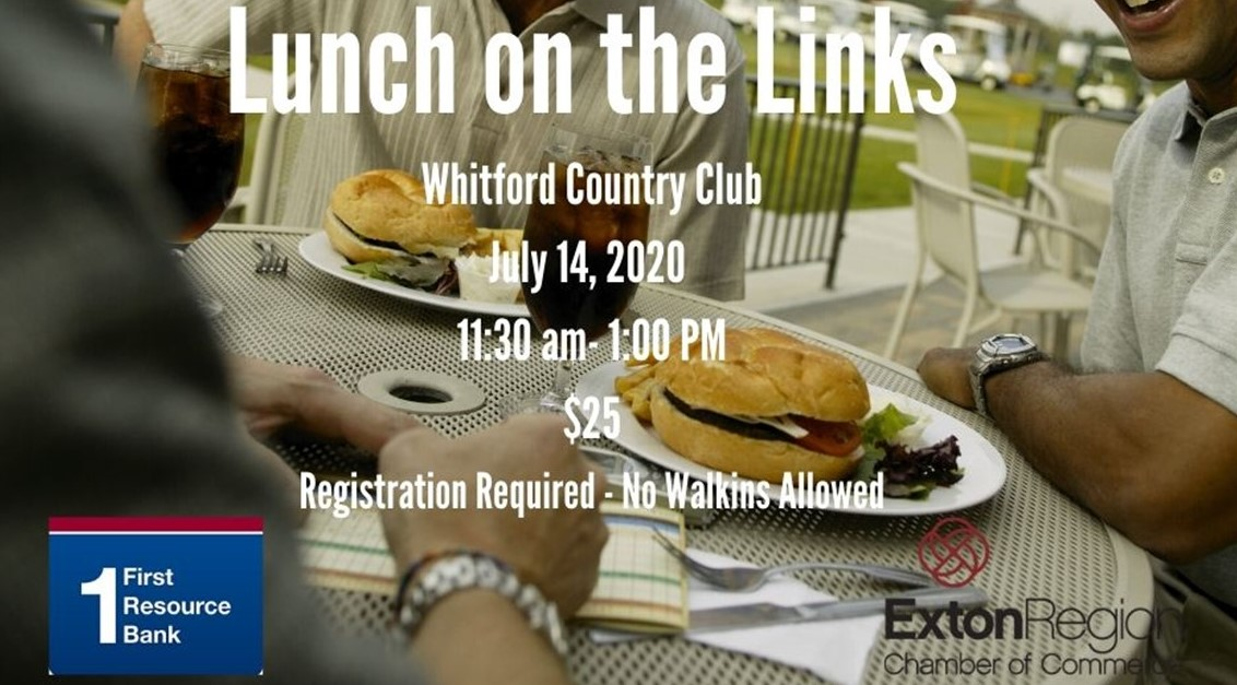 Join ERCC for Socially Distanced Lunch on the Links at Whitford Country Club on July 14