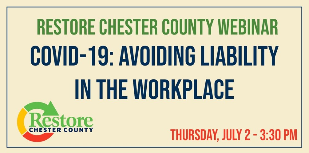 County's Webinar Series Continues Thursday with 'COVID-19: Avoiding Liability in the Workplace'
