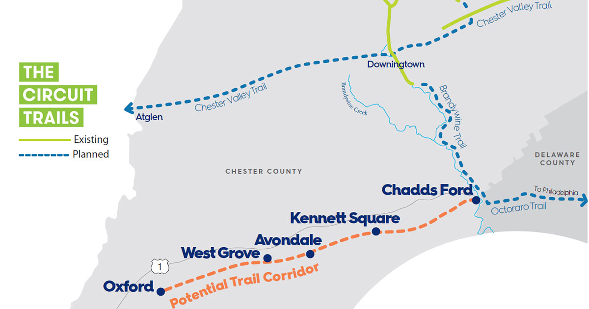 County's Planning Commission to Hold Virtual Public Meeting on Southern Chester County Trail Project