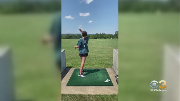 Video of Malvern Teen Swinging Golf Club for First Time After Stroke Lands on ESPN