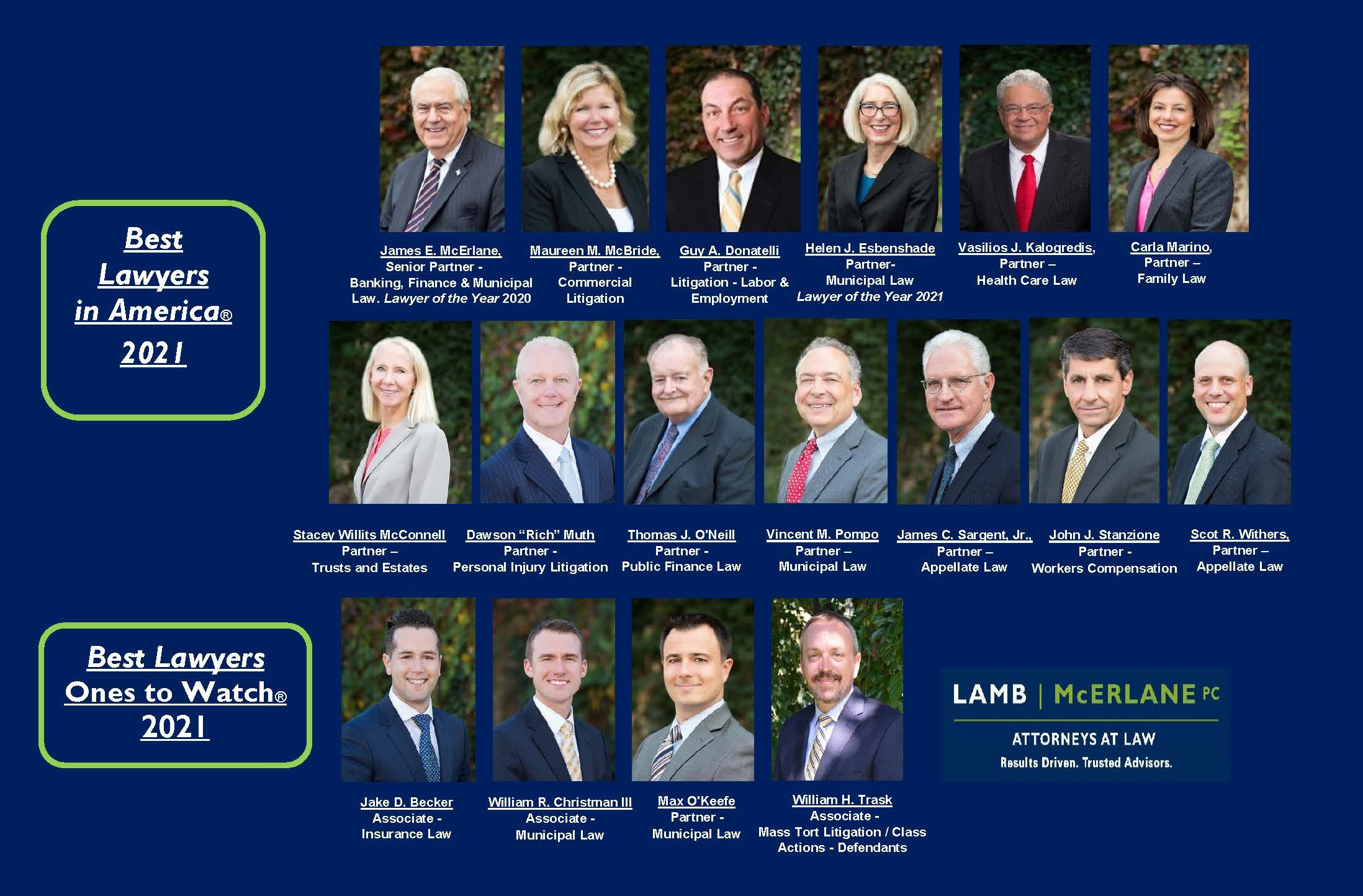17 Lamb McErlane Attorneys Recognized as Best Lawyers in America, Ones to Watch