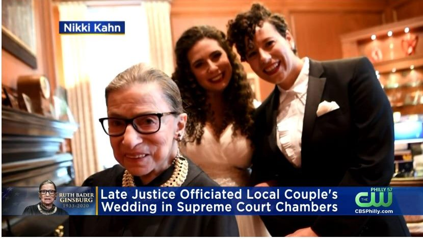 The Late Ruth Bader Ginsburg Officiated This Local Couple's Wedding