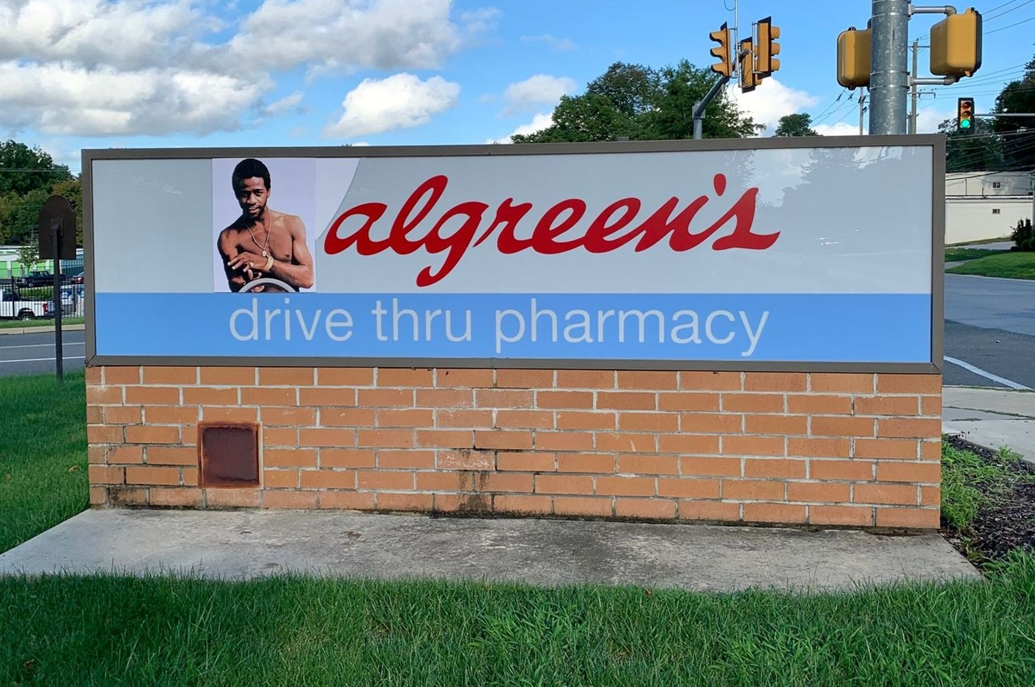 Local Street Artist's Al Green-Themed Alteration to Walgreens Sign in West Chester Goes Viral
