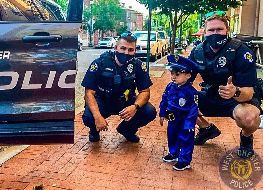 West Chester Borough PD's Latest 'Recruit' May Be Small, But He's Ready to Serve and Protect