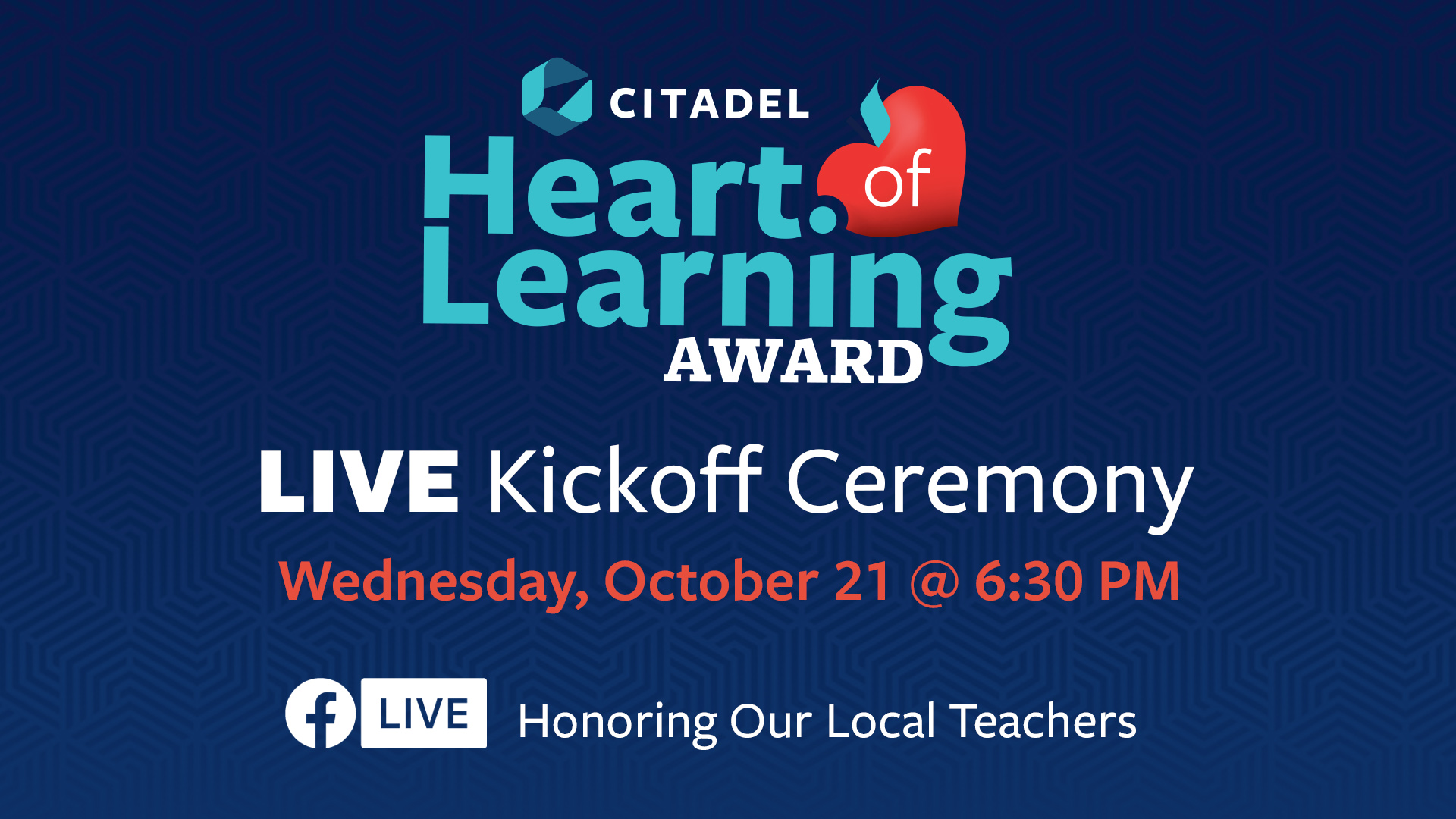 Citadel Credit Union Now Accepting Nominations for Its Heart of Learning Award Program