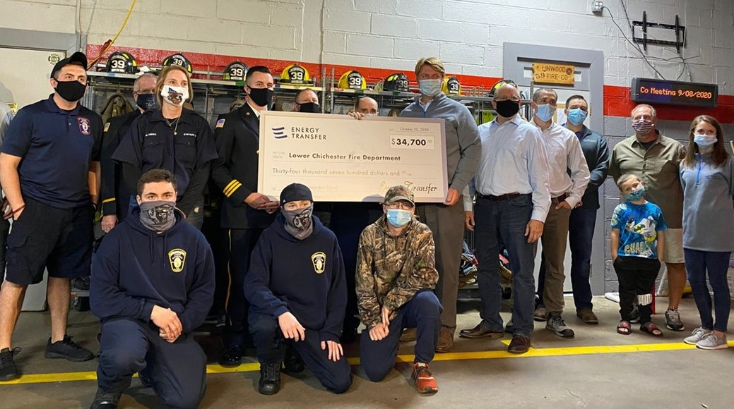 Energy Transfer's First Responder Fund Surpasses $1 Million in Grants to Emergency Services Throughout PA