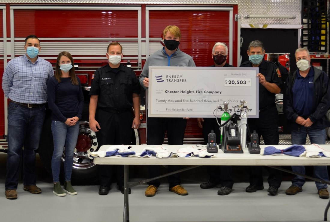 Energy Transfer Grants $20,503.58 to Local Fire Company for Emergency Equipment