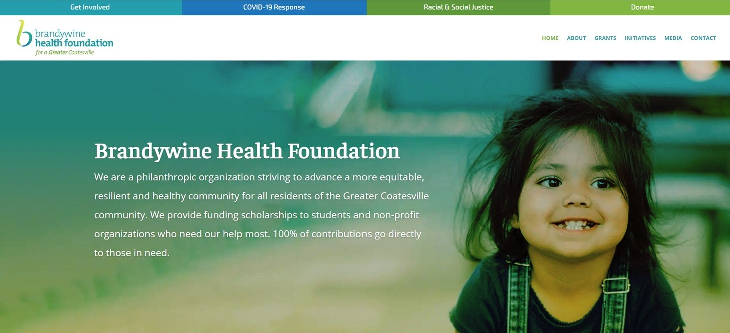 Brandywine Health Foundation Launches New Website, Views Each Visitor as a 'Potential Ambassador'