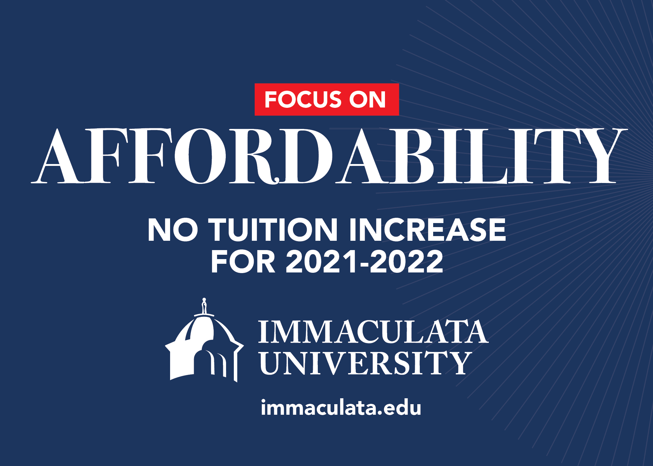 Immaculata University Freezes Tuition for 2021-2022 Academic Year