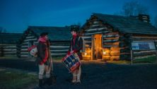 Valley Forge Park log cabins