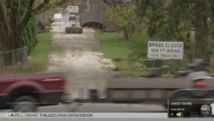 Closed bridges in Chester County