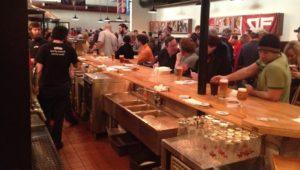 The bar at Victory Brewing Downingtown.