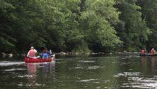 Canoeing down the Brandywine Creek in Beaver Valley