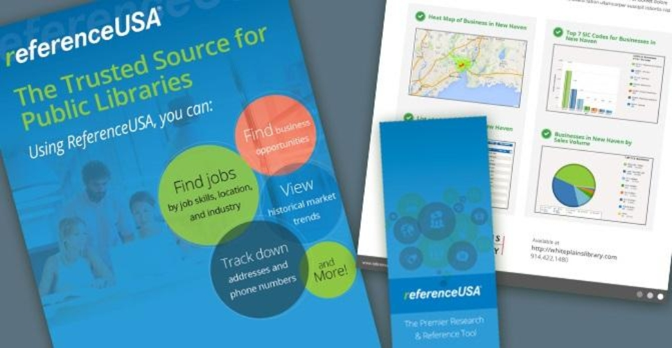RefernceUSA is a database to help small business owners