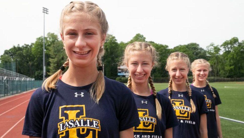 The Mancini sisters; Grace, Eleanor, Elizabeth and Christine at La Salle University.
